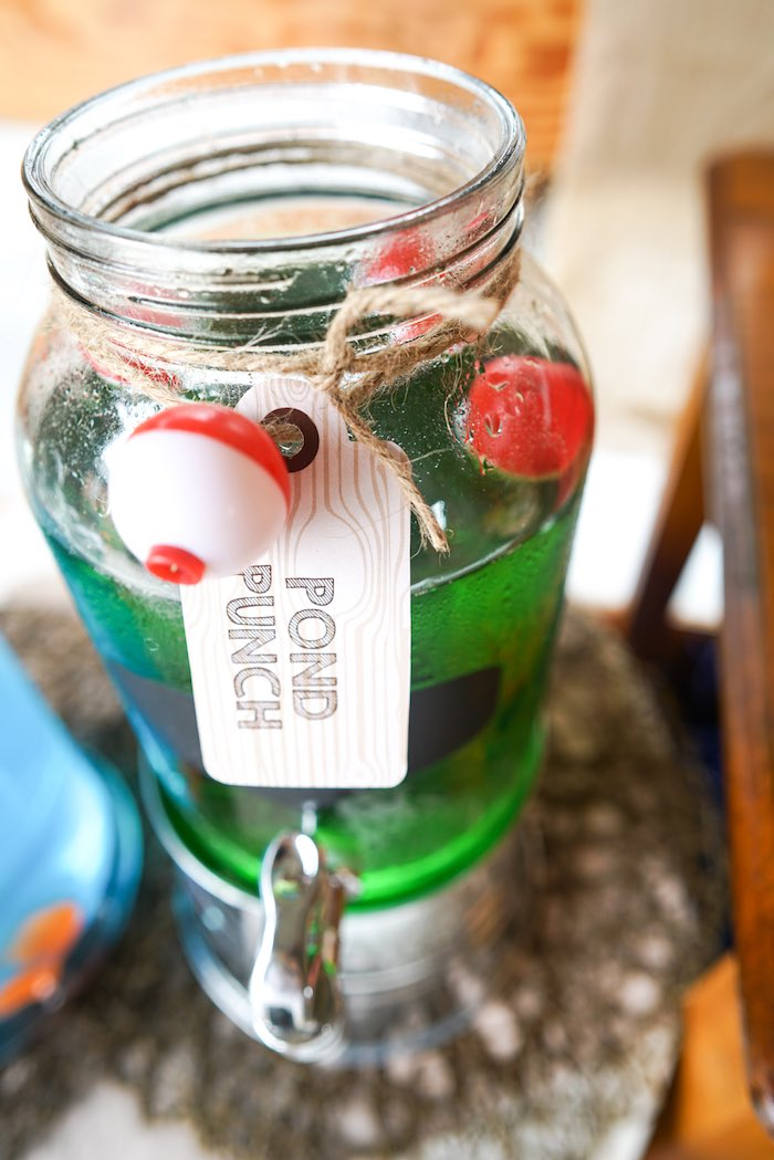 Drink Tag from a Gone Fishing Birthday Party via Kara's Party Ideas! KarasPartyIdeas.com (9)