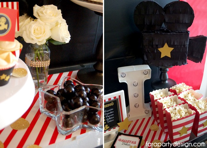 Details + Decor from a Hollywood Glam Birthday Party via Kara's Party Ideas | The Place for All Things Party! KarasPartyIdeas.com (4)