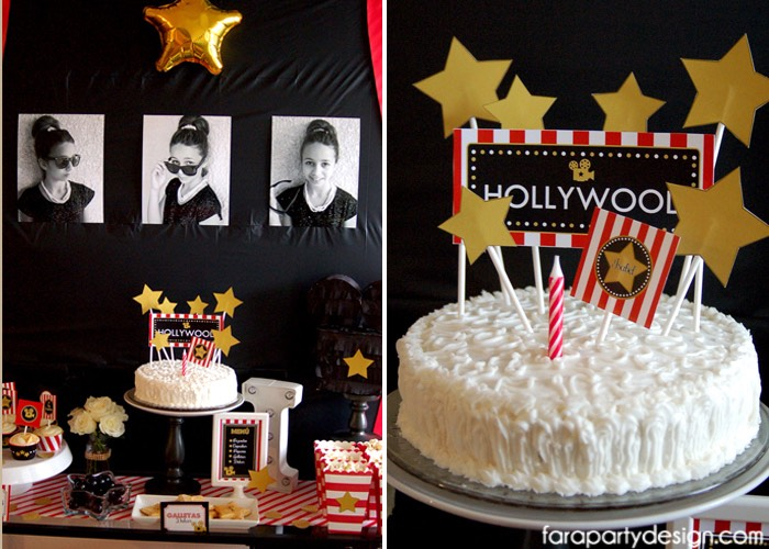 Hollywood Glam Birthday Cake