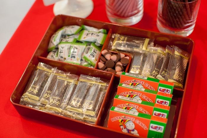 Japanese Dinner Party Ideas Part - 31: Candy Tray From A Japanese Inspired Ninja Party Via Karau0027s Party Ideas  KarasPartyIdeas.com (