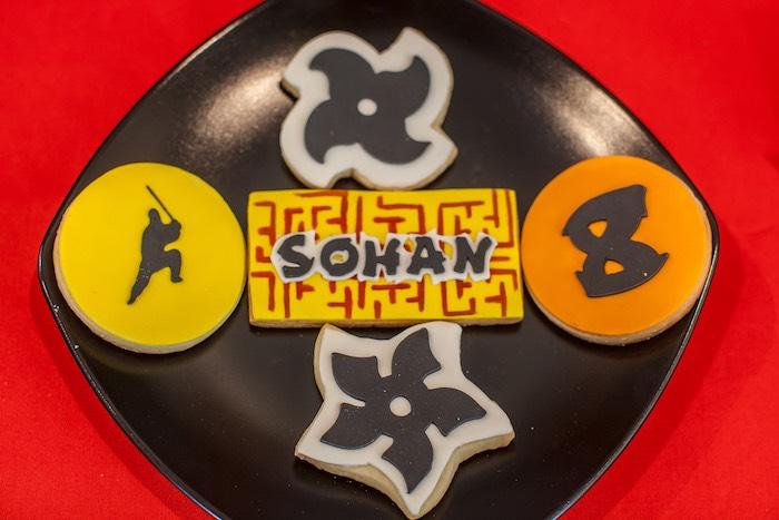 Cookies from a Japanese Inspired Ninja Party via Kara's Party Ideas KarasPartyIdeas.com (58)