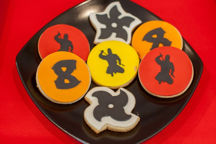 Cookies from a Japanese Inspired Ninja Party via Kara's Party Ideas KarasPartyIdeas.com (57)