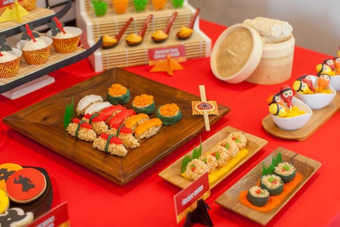 Sweets + Treats from a Japanese Inspired Ninja Party via Kara's Party Ideas KarasPartyIdeas.com (55)