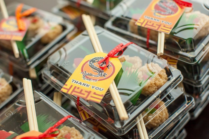 Take Out Favor Boxes From A Japanese Inspired Ninja Party Via Karas Ideas KarasPartyIdeas