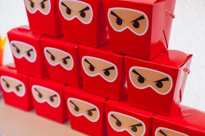 Ninja Favor Boxes from a Japanese Inspired Ninja Party via Kara's Party Ideas KarasPartyIdeas.com (39)