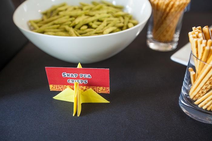 Food Label from a Japanese Inspired Ninja Party via Kara's Party Ideas KarasPartyIdeas.com (37)