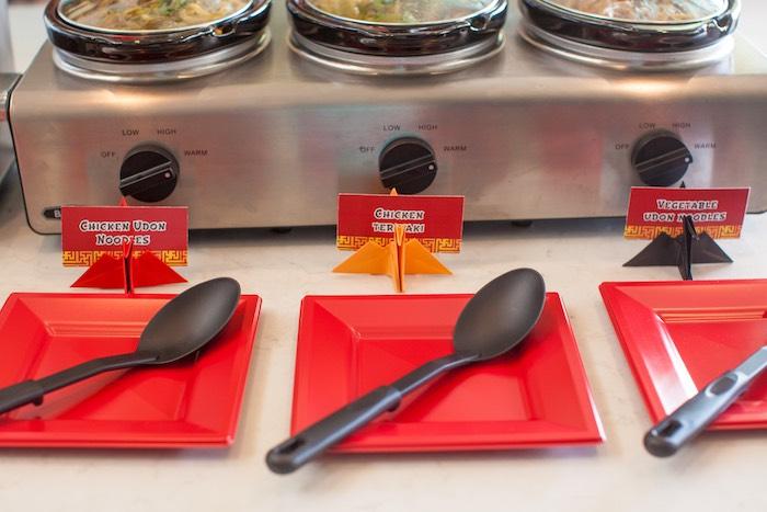 Food Table from a Japanese Inspired Ninja Party via Kara's Party Ideas KarasPartyIdeas.com (35)