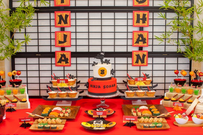 Kara S Party Ideas Japanese Inspired Ninja Party Kara S