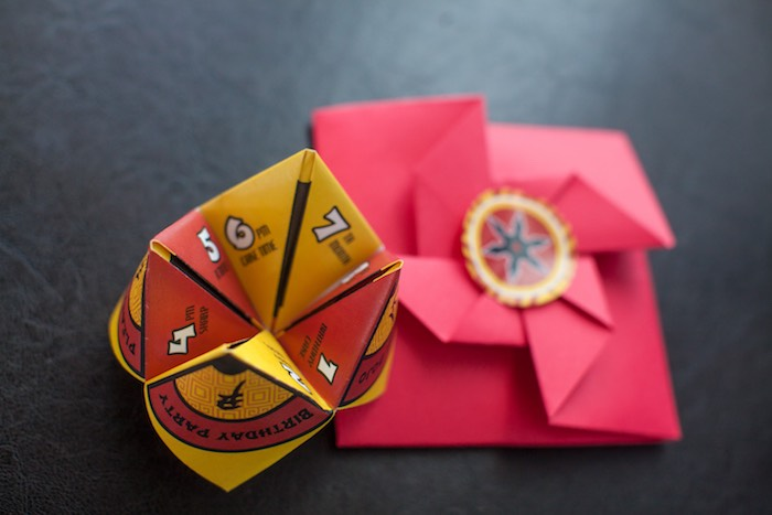 Origami Fortune Teller Invitation from a Japanese Inspired Ninja Party via Kara's Party Ideas KarasPartyIdeas.com (33)