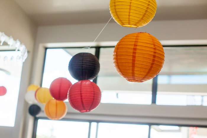Hanging Paper Lanterns from a Japanese Inspired Ninja Party via Kara's Party Ideas KarasPartyIdeas.com (22)