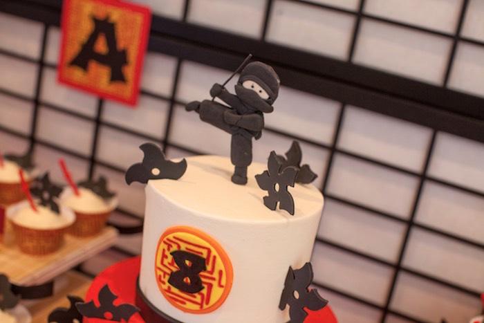 Top of Cake from a Japanese Inspired Ninja Party via Kara's Party Ideas KarasPartyIdeas.com (68)