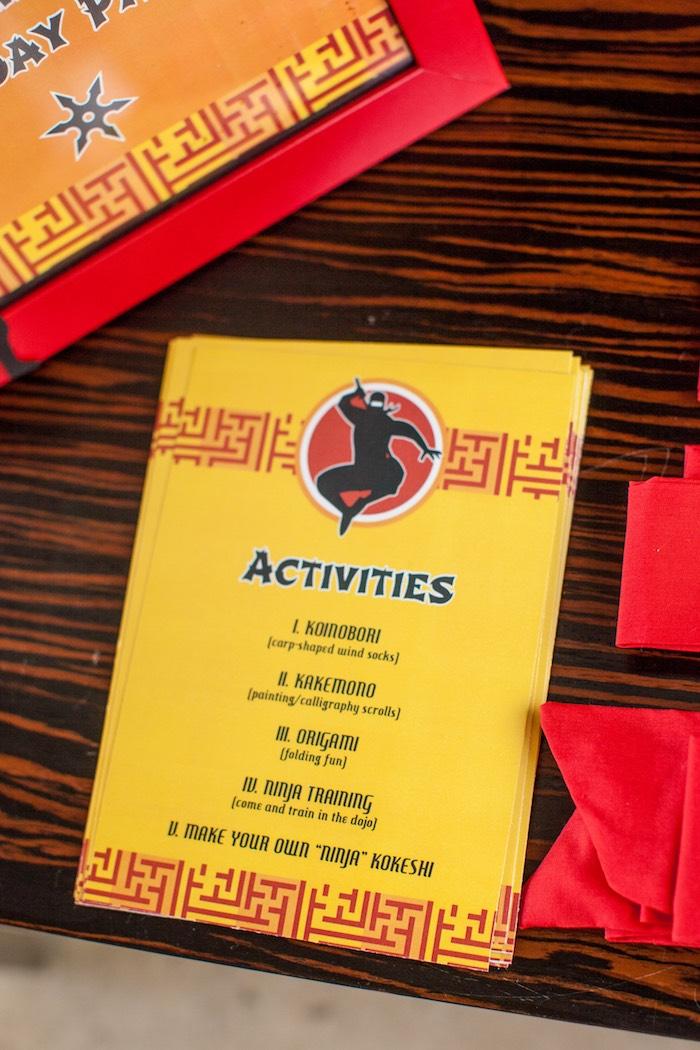 Activity Card from a Japanese Inspired Ninja Party via Kara's Party Ideas KarasPartyIdeas.com (3)