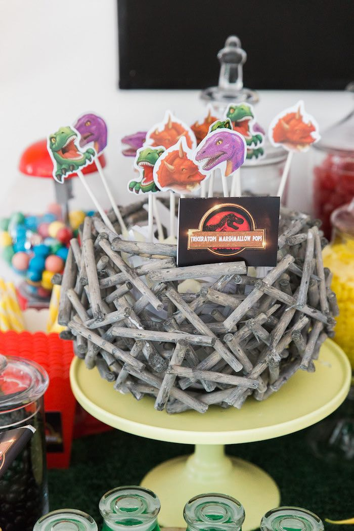 Kara's Party Ideas Jurassic Park Dinosaur Birthday Party | Kara's ...
