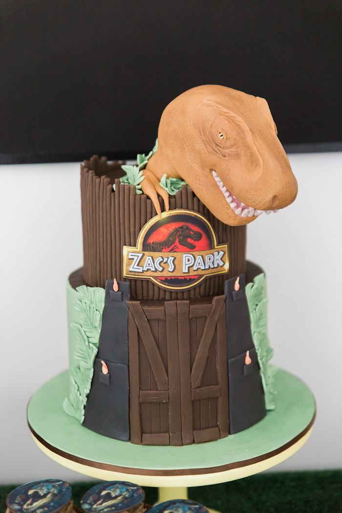 Kara S Party Ideas Jurassic Park Dinosaur Birthday Party