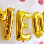 "Foil Letter ""Meow"" Banner from a Kitten Party via Kara's Party Ideas 