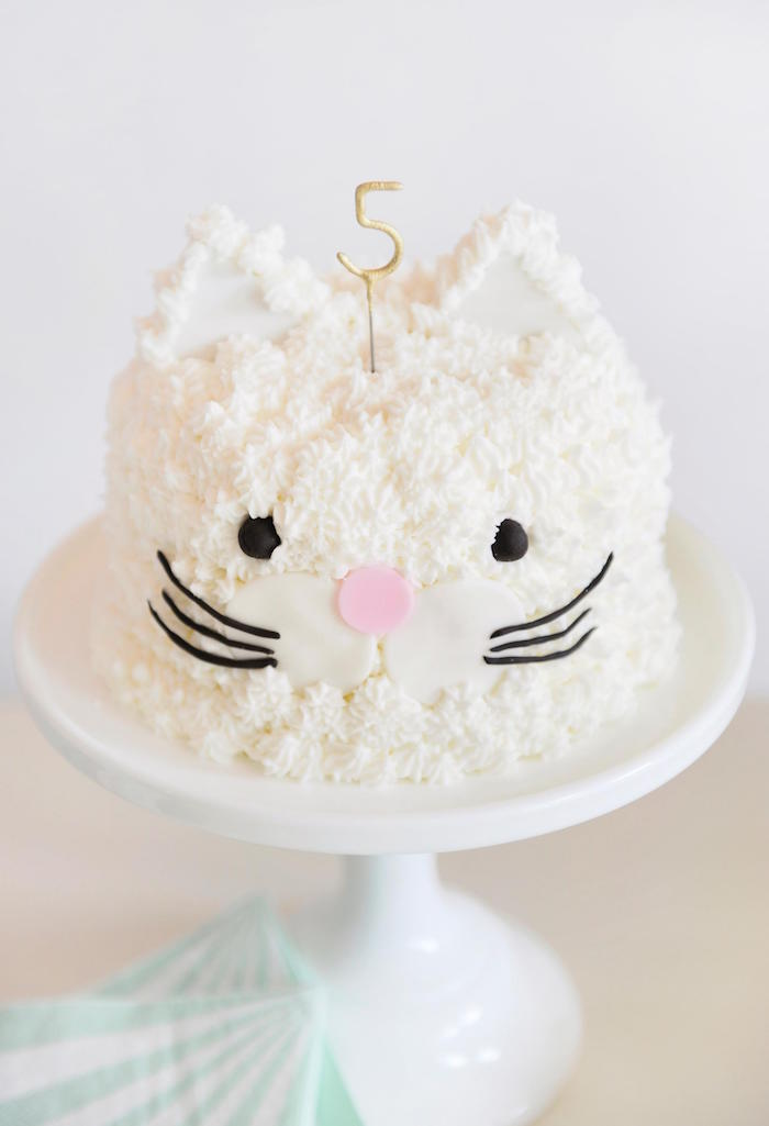 Kitty Cake from a Kitten Party via Kara's Party Ideas | KarasPartyIdeas.com | The Place for All Things Party! (9)
