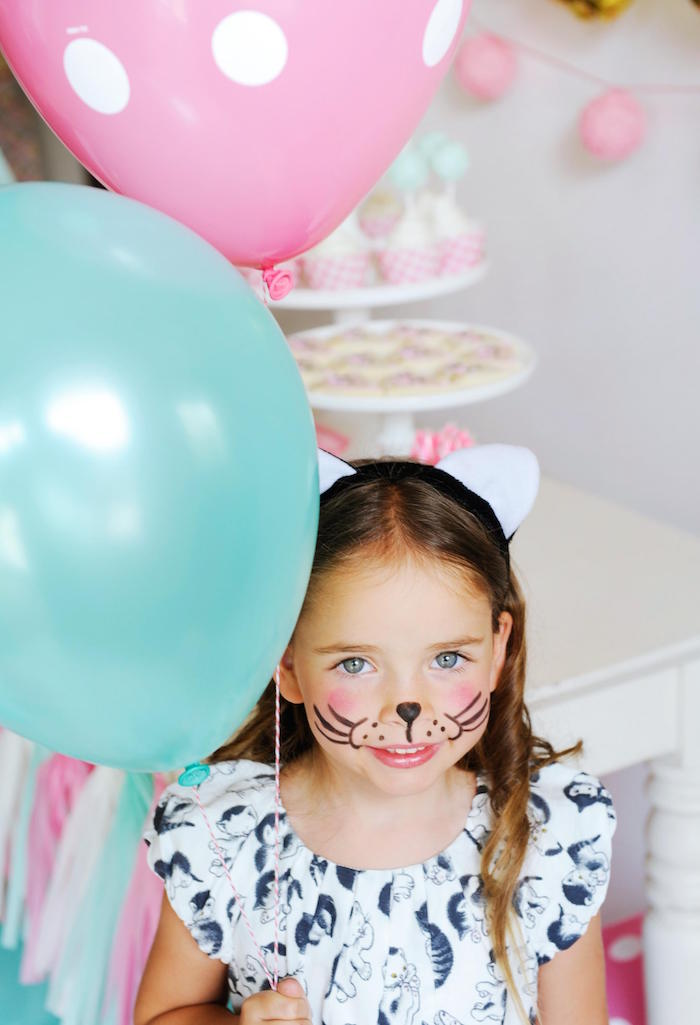 Birthday Girl from a Kitten Party via Kara's Party Ideas | KarasPartyIdeas.com | The Place for All Things Party! (7)