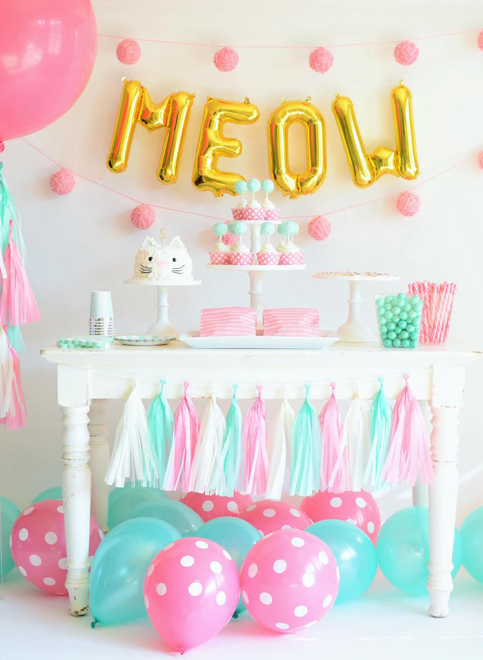 Sweet Table from a Kitten Party via Kara's Party Ideas | KarasPartyIdeas.com | The Place for All Things Party! (4)