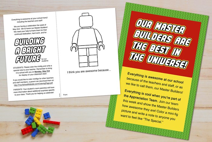 Coloring Page from a Lego Inspired Teacher Appreciation Party via Kara's Party Ideas! KarasPartyIdeas.com (4)