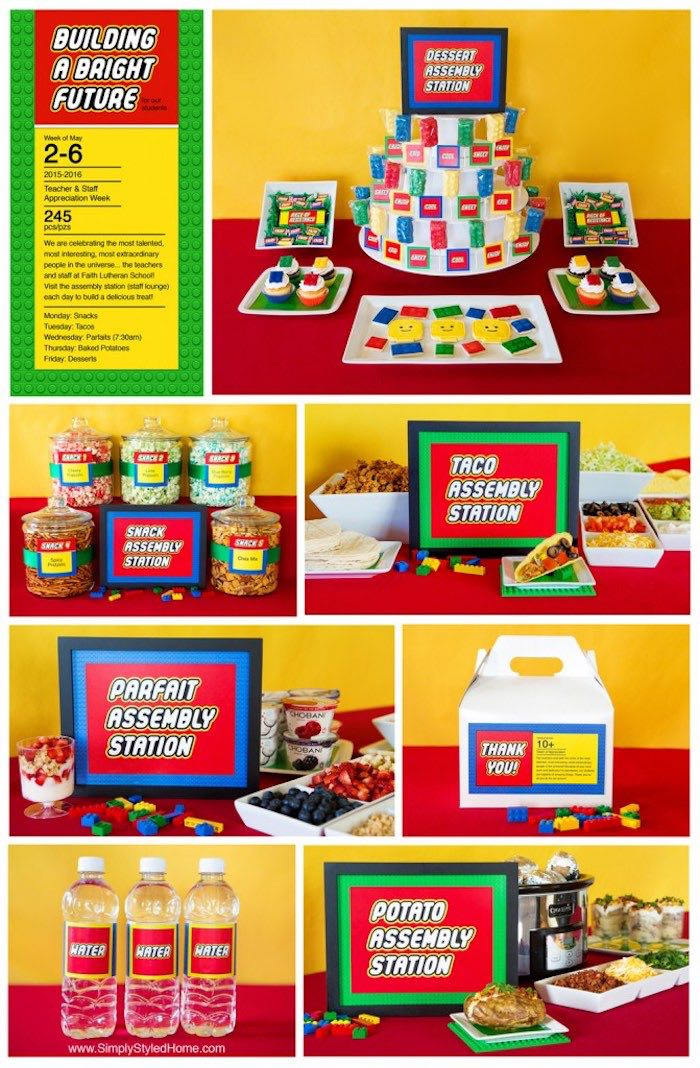 Details From A Lego Inspired Teacher Appreciation Party Via Karas Ideas KarasPartyIdeas