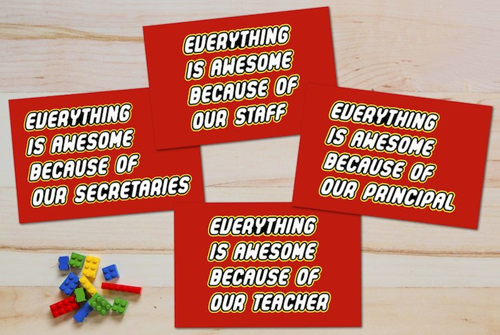 """Master Builder"" Badges from a Lego Inspired Teacher Appreciation Party via Kara's Party Ideas! KarasPartyIdeas.com (5)"