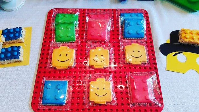 Lego Cookies from a Lego Themed Birthday Party via Kara's Party Ideas | KarasPartyIdeas.com (12)