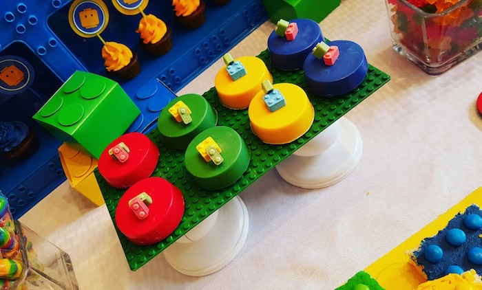 Covered Oreos from a Lego Themed Birthday Party via Kara's Party Ideas | KarasPartyIdeas.com (11)