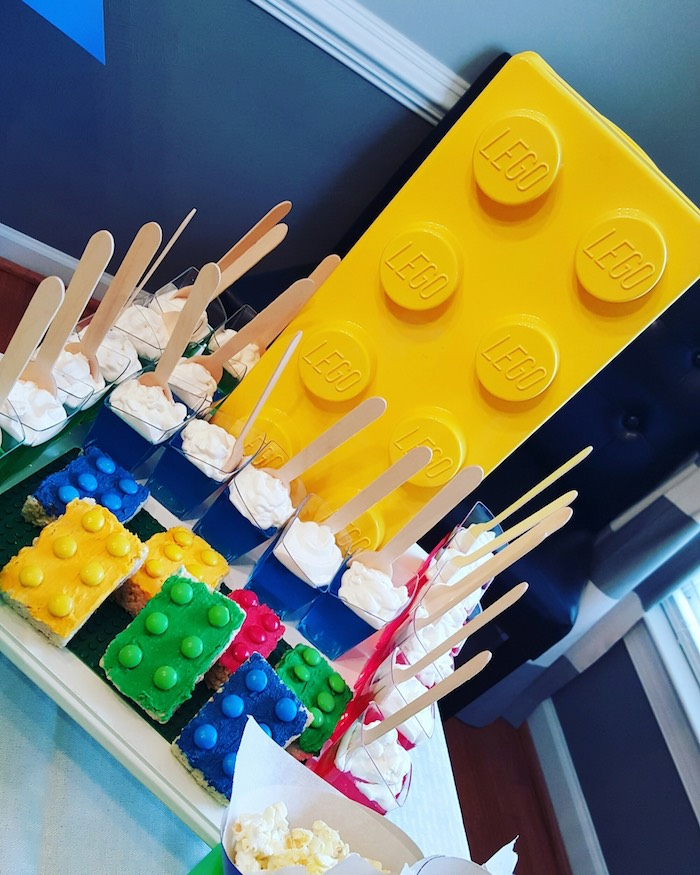 Jello Cups + Sweets from a Lego Themed Birthday Party via Kara's Party Ideas | KarasPartyIdeas.com (7)
