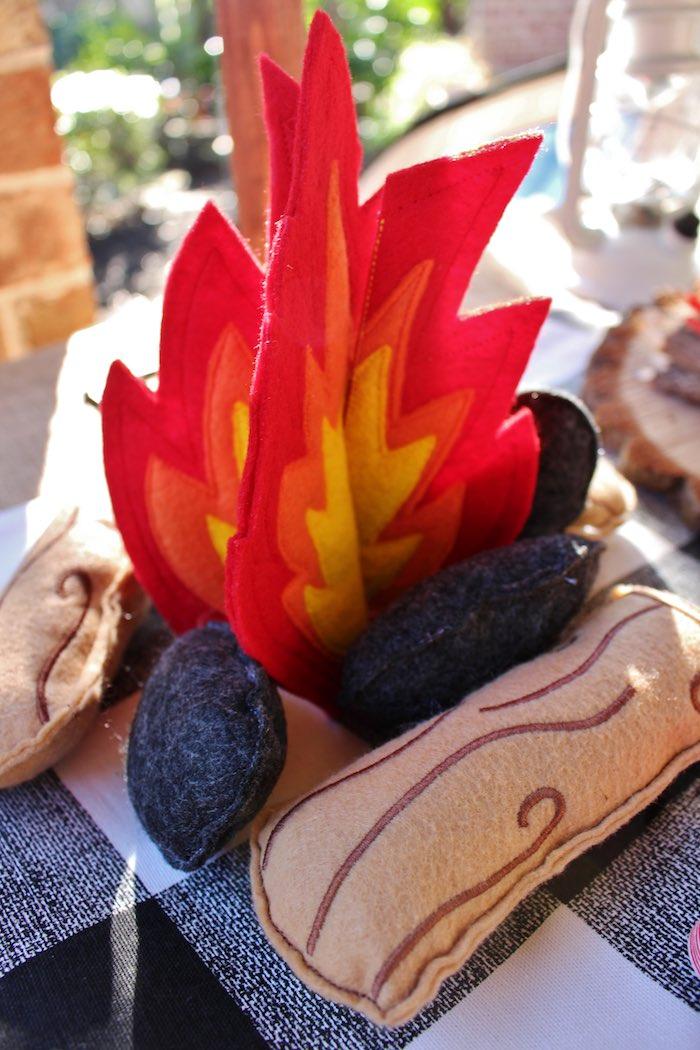 Felt Fire Decor Piece from a Little Lumberjack Birthday Party via Kara's Party Ideas KarasPartyIdeas.com (23)