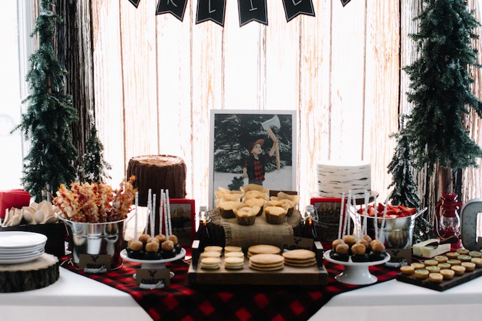 Head Table from a Little Lumberjack Birthday Party via Kara's Party Ideas | The Place for All Things Party KarasPartyIdeas.com (23)