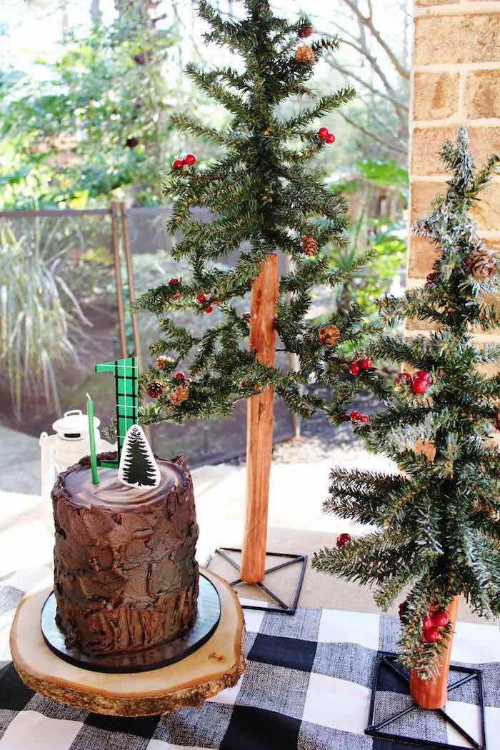 Cake Display from a Little Lumberjack Birthday Party via Kara's Party Ideas KarasPartyIdeas.com (17)