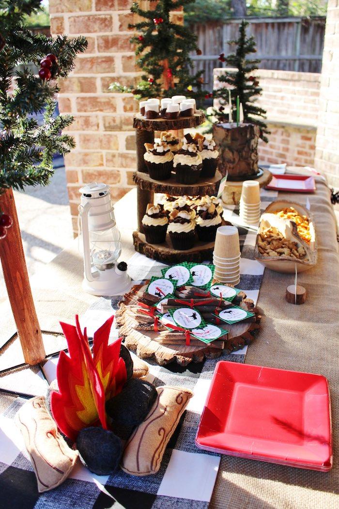 Sweet Table Details from a Little Lumberjack Birthday Party via Kara's Party Ideas KarasPartyIdeas.com (16)