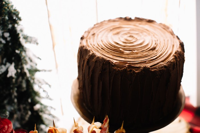 Wood Stump Cake from a Little Lumberjack Birthday Party via Kara's Party Ideas | The Place for All Things Party KarasPartyIdeas.com (17)