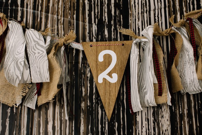 Banner from a Little Lumberjack Birthday Party via Kara's Party Ideas | The Place for All Things Party KarasPartyIdeas.com (16)
