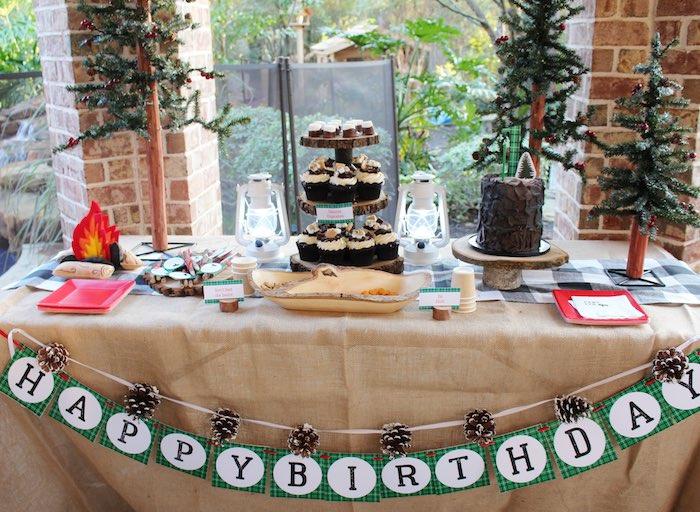Head Table from a Little Lumberjack Birthday Party via Kara's Party Ideas KarasPartyIdeas.com (11)