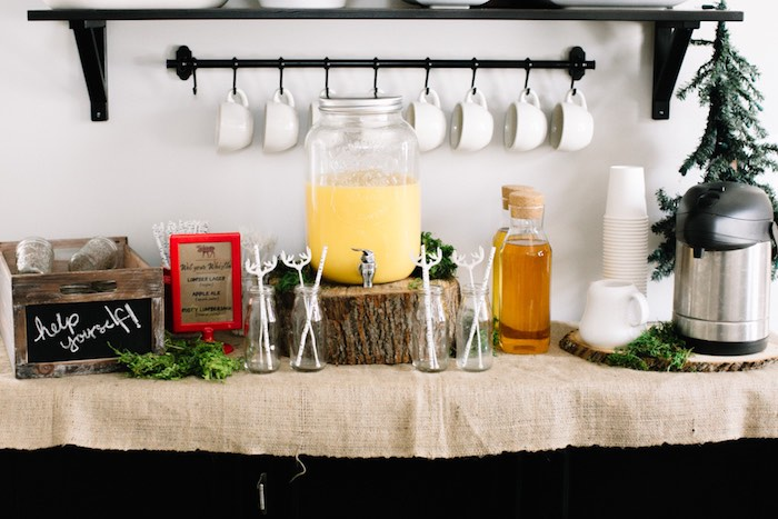 Drink Station from a Little Lumberjack Birthday Party via Kara's Party Ideas | The Place for All Things Party KarasPartyIdeas.com (14)