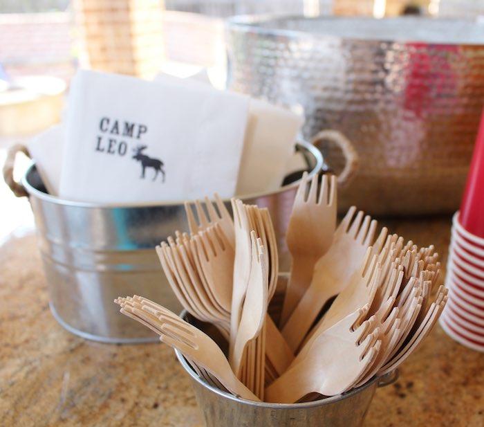 Partyware from a Little Lumberjack Birthday Party via Kara's Party Ideas KarasPartyIdeas.com (10)