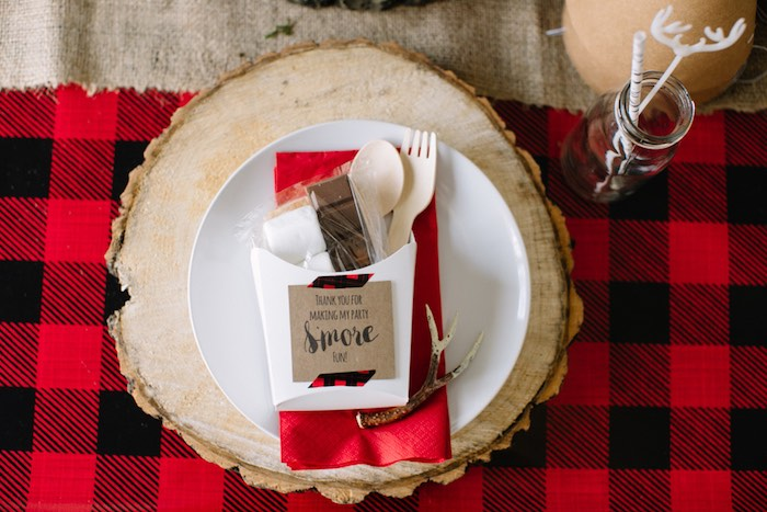 S'more Favor from a Little Lumberjack Birthday Party via Kara's Party Ideas | The Place for All Things Party KarasPartyIdeas.com (11)
