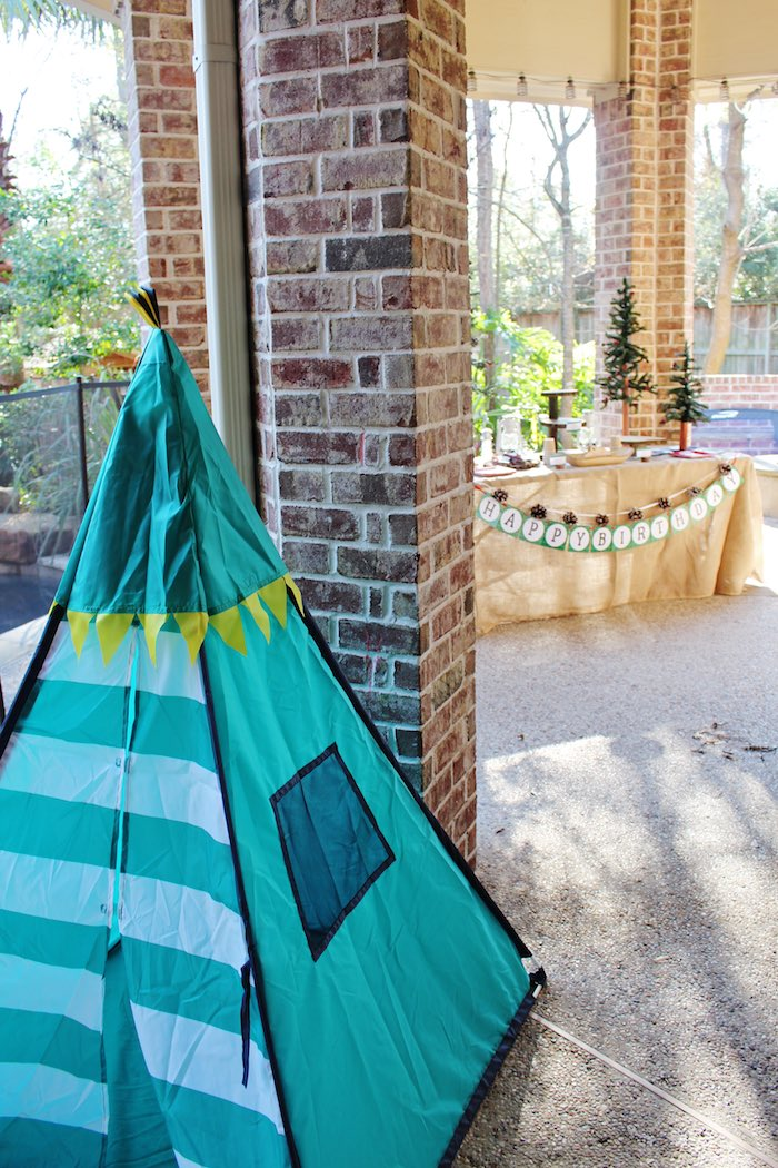Partyscape from a Little Lumberjack Birthday Party via Kara's Party Ideas KarasPartyIdeas.com (7)
