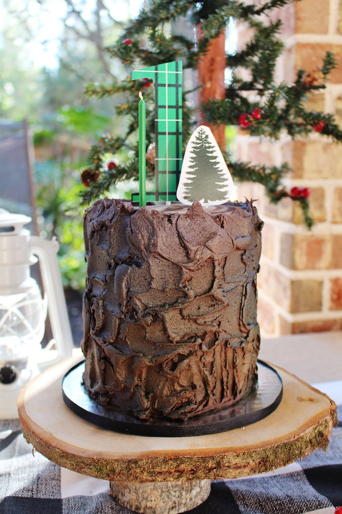 Cake from a Little Lumberjack Birthday Party via Kara's Party Ideas KarasPartyIdeas.com (33)