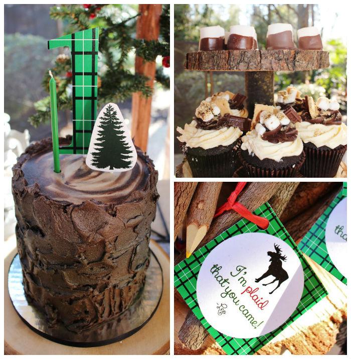 Kara S Party Ideas Littlest Lumberjack Birthday Party