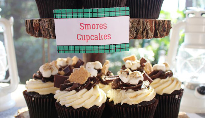 Cupcakes from a Little Lumberjack Birthday Party via Kara's Party Ideas KarasPartyIdeas.com (1)
