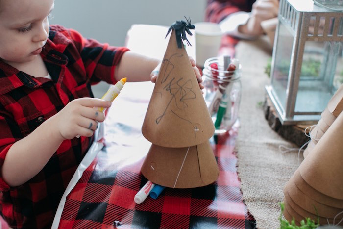 Party Hat Decorating Activity from a Little Lumberjack Birthday Party via Kara's Party Ideas | The Place for All Things Party KarasPartyIdeas.com (3)
