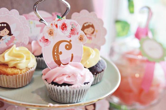 Cupcakes from a Magical Fairy Birthday Party via Kara's Party Ideas | KarasPartyIdeas.com (10)