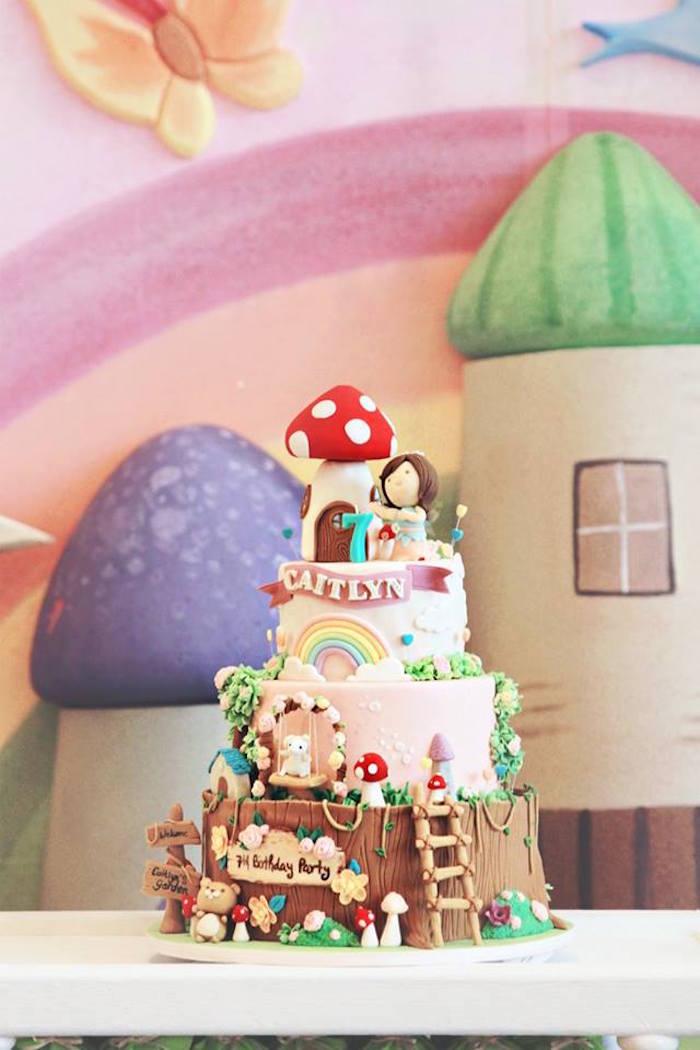 Cake from a Magical Fairy Birthday Party via Kara's Party Ideas | KarasPartyIdeas.com (9)