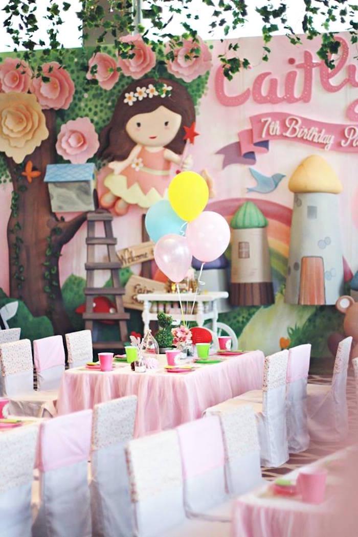 Guest Table from a Magical Fairy Birthday Party via Kara's Party Ideas | KarasPartyIdeas.com (8)