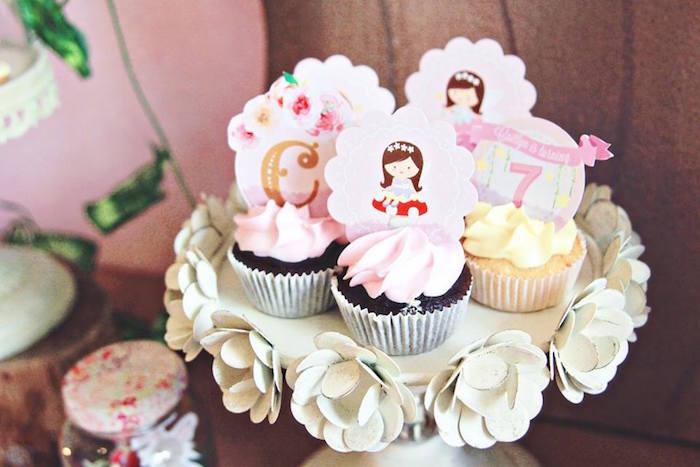 Cupcakes from a Magical Fairy Birthday Party via Kara's Party Ideas | KarasPartyIdeas.com (6)