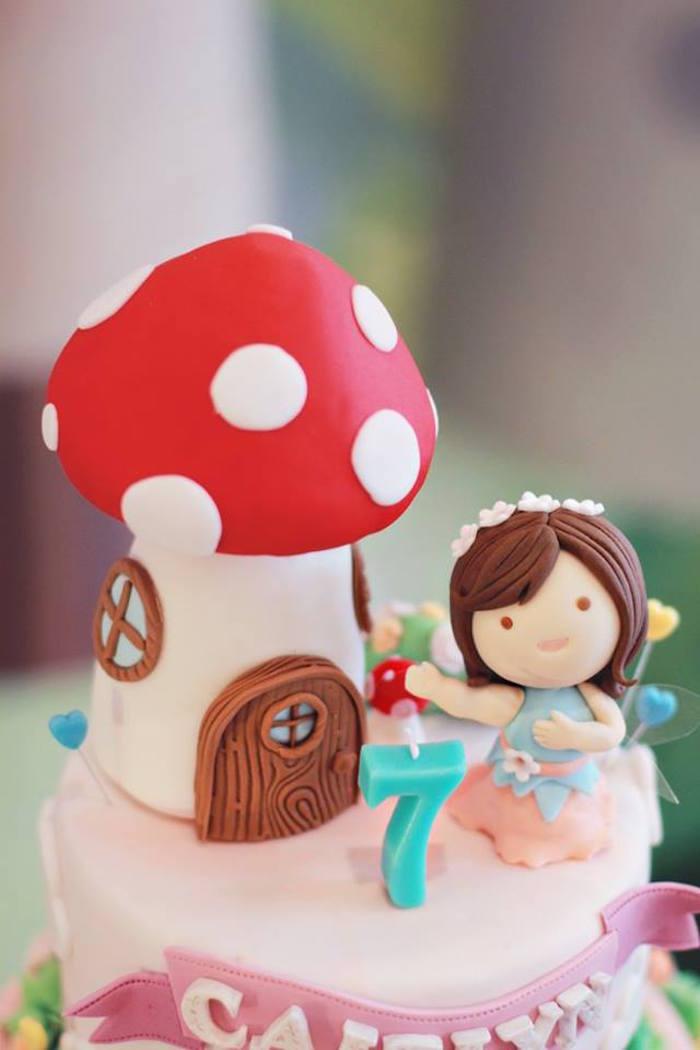 Top of Cake from a Magical Fairy Birthday Party via Kara's Party Ideas | KarasPartyIdeas.com (5)