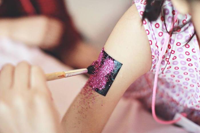 Glitter Tattoos from a Magical Fairy Birthday Party via Kara's Party Ideas | KarasPartyIdeas.com (18)
