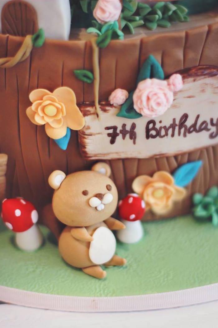 Cake Detail from a Magical Fairy Birthday Party via Kara's Party Ideas | KarasPartyIdeas.com (16)